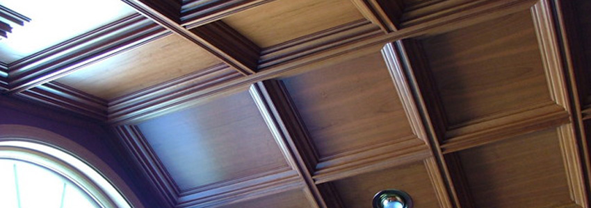 Cherry Coffered Ceiling